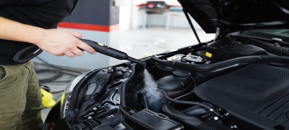 car engine detailing